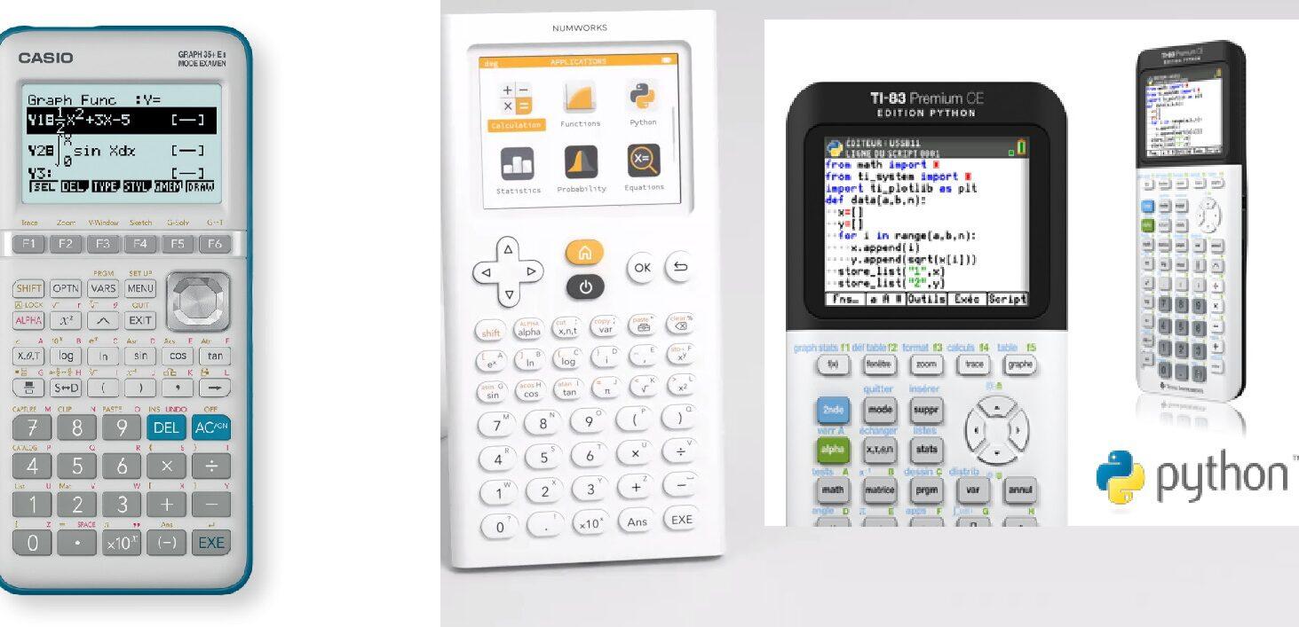 trois modèles de calculatrice recommandés